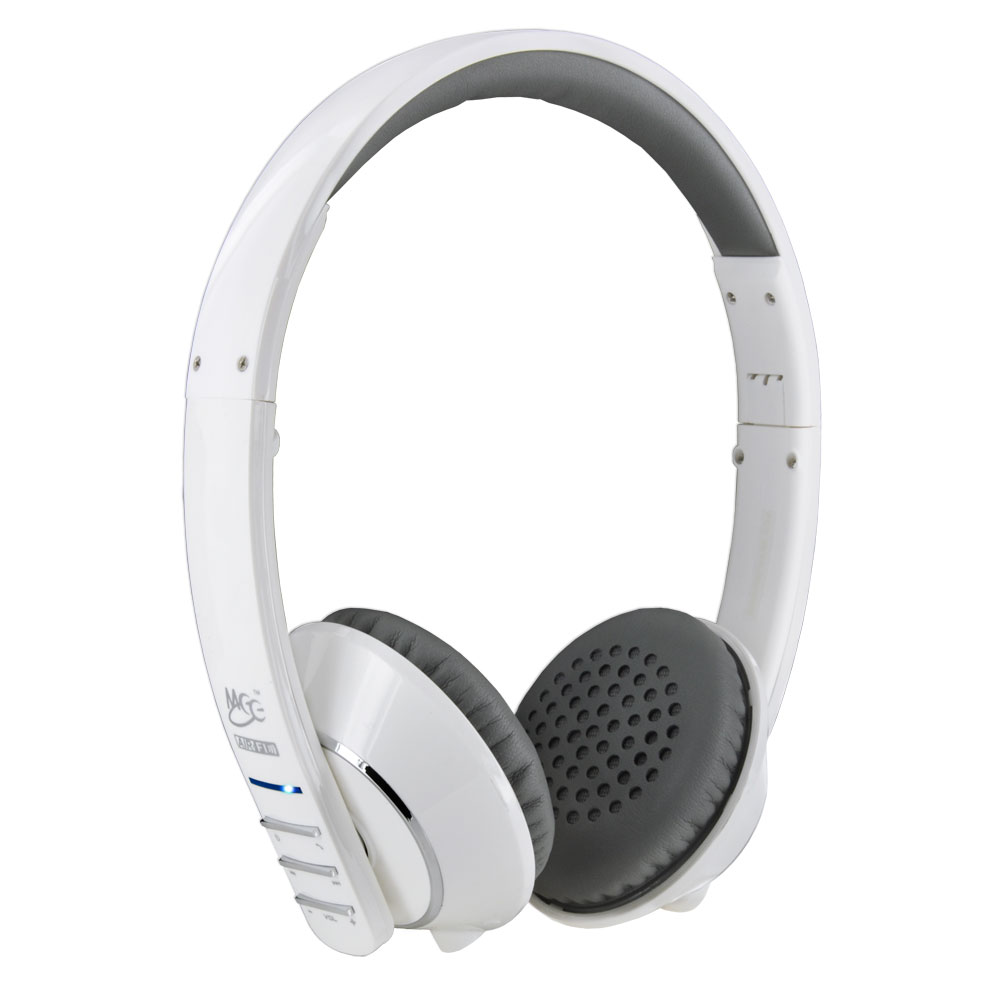 meelectronics air fi af32 stereo bluetooth wireless headphones hidden mic white 736211201263 ebay. Black Bedroom Furniture Sets. Home Design Ideas
